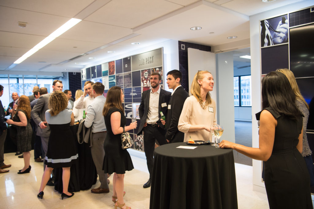 Georgetown Lombardi hosts a reception for the Friends of Lombardi at the NFL Players Association office, on Thursday, May 9, 2019, in Washington, DC. (Photos by Leslie E. Kossoff/Georgetown University)